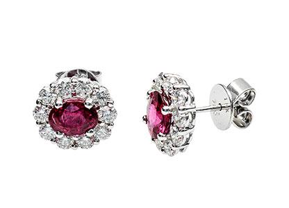 Ruby-&-Diamond-Cluster-Earrings-ESA00353