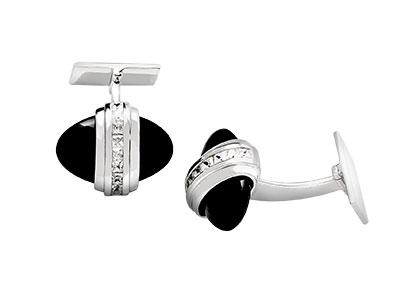 Silver-Oval-Onyx-Cufflinks-CK00102