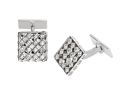 Essex-Sterling-Silver-Cufflinks-CZ-CK00103