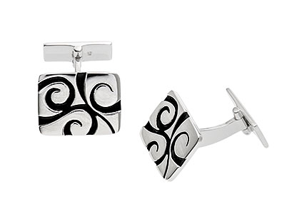 Sterling-Silver-Cufflinks-Black-CK00108