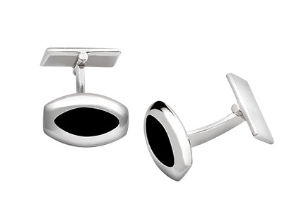 Barrel-Shaped-Onyx-Cufflinks-CK00112