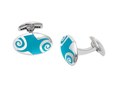 Oval-Silver-Cufflinks-Blue-Enamel-CK00124