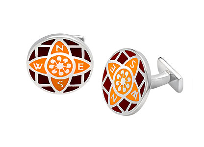Sterling-Silver-Orange-Cufflinks-CK00147