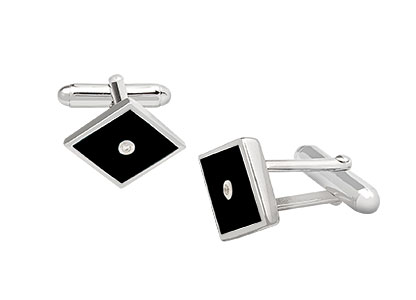 Black-Enamelled-Cufflinks-CK00155
