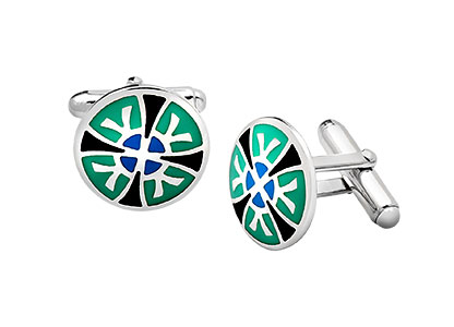 Kaleidoscope-Real-Silver-Cufflinks-CK00183