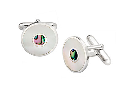 Mother-of-Pearl-Cufflinks-Real-Silver-CK00207