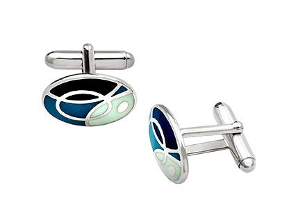 Kent-Silver-Cufflinks-Blue-CK00211