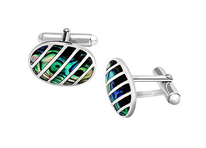 Silver-Cufflinks-Paua-Shell-CK00223