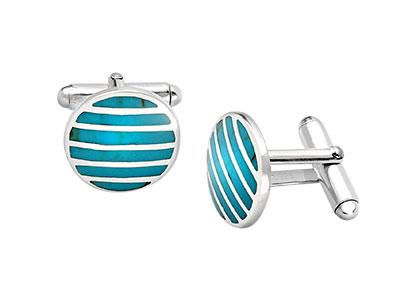 Round-Silver-Turquoise-Cufflinks-CK00228