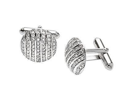 Round-Silver-Cufflinks-Cubic-Zirconia-CK00034
