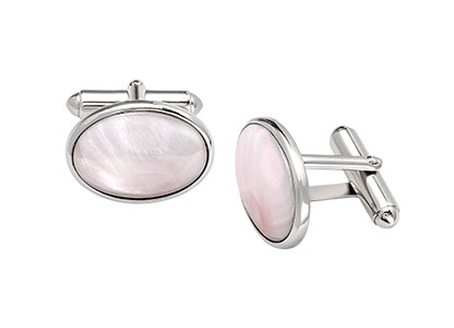 Silver-Cufflinks-Oval-Mother-of-Pearl-CK00084