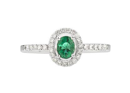 White-Gold-Emerald-Ring-18ct-RA00104
