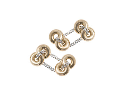 Infinity-Gold-Chain-Cufflinks-CCKN00019
