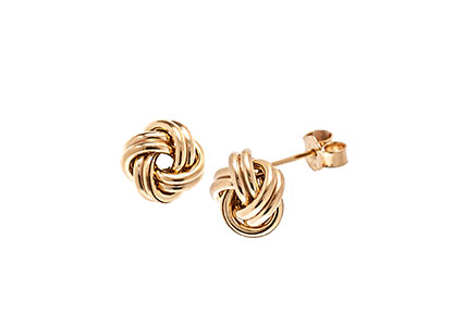 Smethwick-Gold-Knot-Stud-Earrings-ESP00011