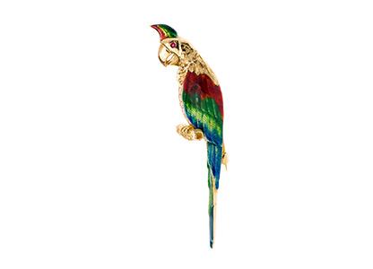 18ct-Parrot-Brooch-BRQ00007