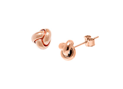 Rose-Gold-Knot-Stud-Earrings-ESP00054