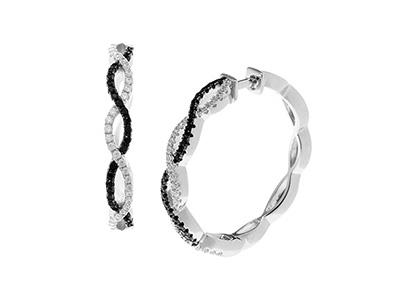 Silver-Hoop-Earrings-Black-&-White-ELS00001