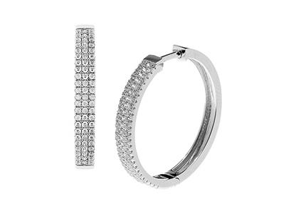 Silver-Hoop-Earrings-Cubic-Zirconia-ELS00004