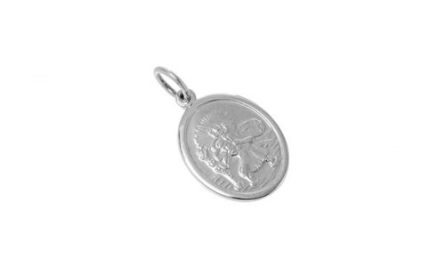 f7ba20d6f6 REAL SILVER OVAL SAINT CHRISTOPHER PENDANT PS00009
