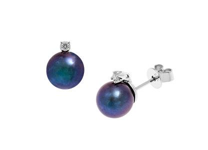 Walsall-Black-Pearl-Stud-Earrings-ES00051