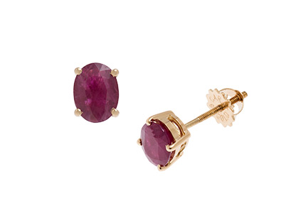 Ruby-Stud-Earrings-Oval-ESA00405