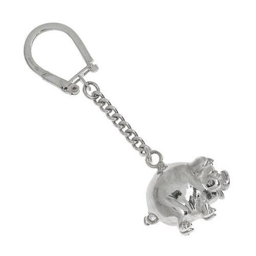 Sterling-Silver-Porky-Pig-Keyring-Fob-KF00020