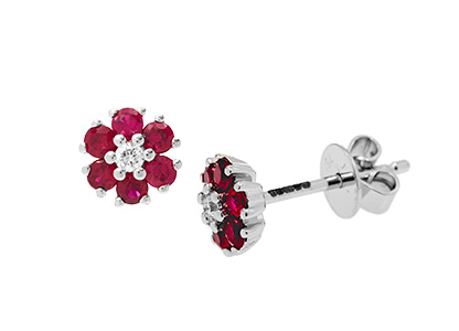 Ruby-&-Diamond-Flower-Earrings-ESA00394