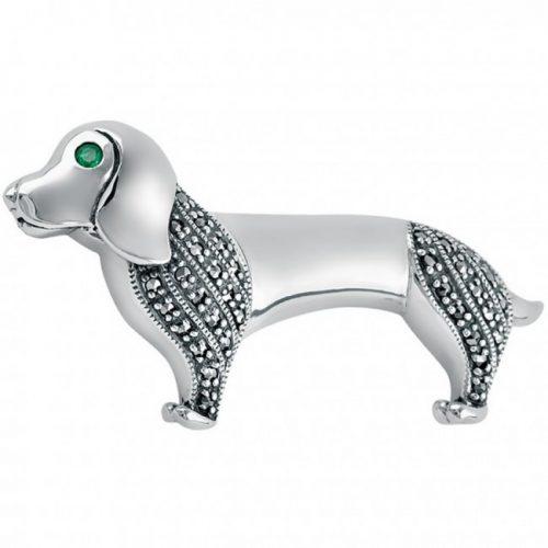 Dachshund-Dog-Brooch-Real-Silver-BRS00011
