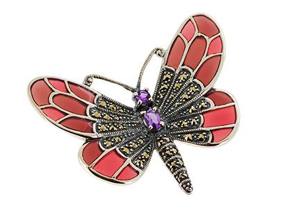 Silver-Enamelled-Butterfly-Brooch-BRS00012