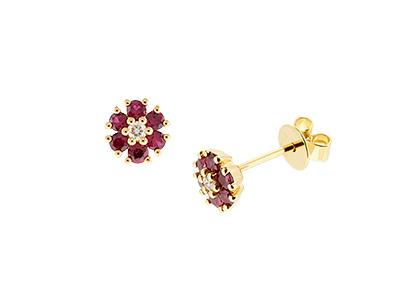 Gold-Ruby-&-Diamond-Earring-Studs-ESA00447
