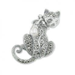 Silver-Cat-Brooch-uk-BRS00043
