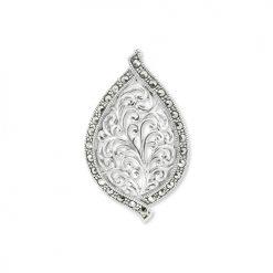 Filigree-Silver-Leaf-Brooch-Marcasite-BRS00025