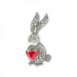 Marcasite-Rabbit-Brooch-BRS00038