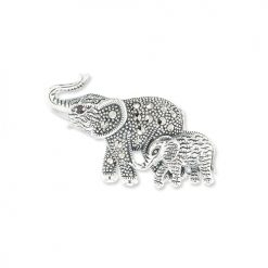 Marcasite-Elephant-Brooch-BRS00060