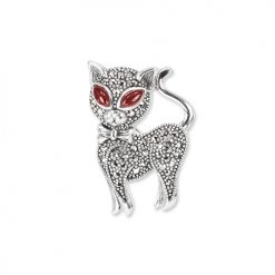 Marcasite-Cat-Brooch-BRS00032