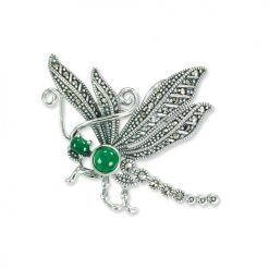 Dragonfly-Brooch-Green-Agate-BRS00057