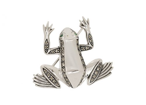 Silver-Frog-Brooch-BRS00024