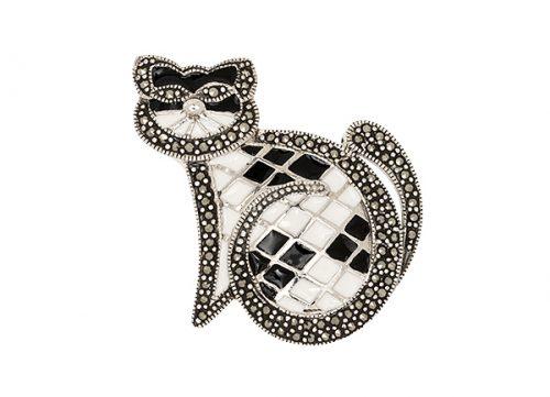 Silver-Cat-Brooch-BRS00030