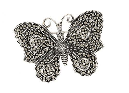 Silver-Marcasite-Butterfly-Brooch-BRS00052