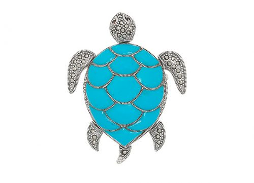 Turquoise-Turtle-Brooch-BRS00054