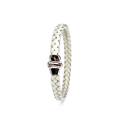 Pre-Owned-Bangle-Woven-White-Gold-BQ00008