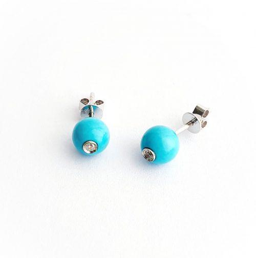 Diamond-Turquoise-Stud-Earrings-ESA00460