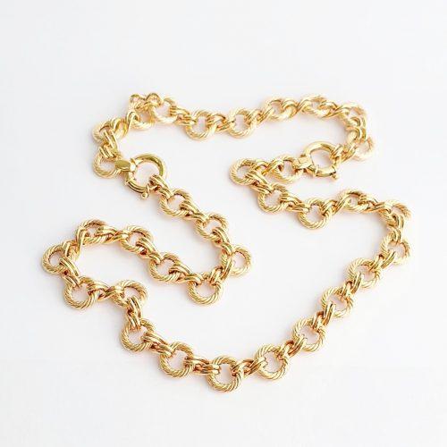 9ct Gold Necklace & bracelet Set N00061