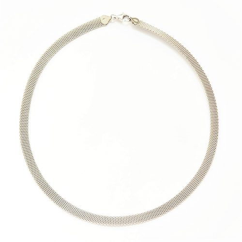 Real-Silver-Mesh-Necklace-NS00004