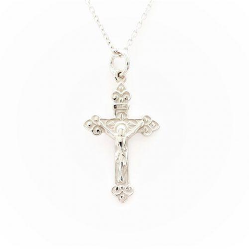 9ct-White-Gold-Crucifix-PC00516