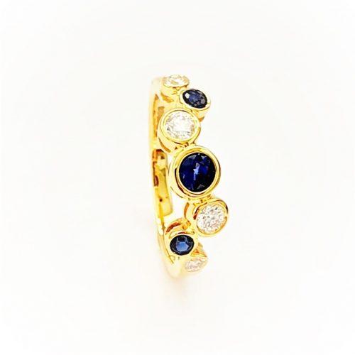 Scattered-Sapphire-Diamond-Ring-RA00654