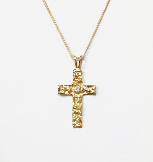 Gold-Nugget-Cross-Necklace-PC00518