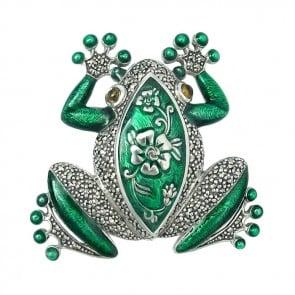 Green-Frog-Brooch-Sterling-Silver-BRS00080