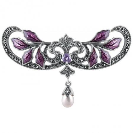 Silver-Brooch-Art-Nouveau-Design-BRS00072