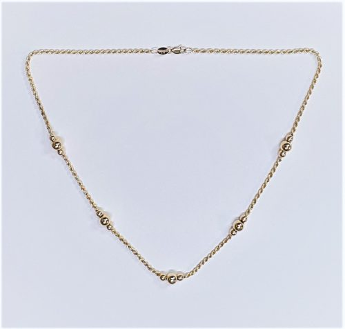 Gold-Rope-Bead-Necklace-17inches-NQ00063